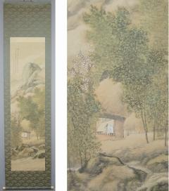 松林桂月 春景竹林