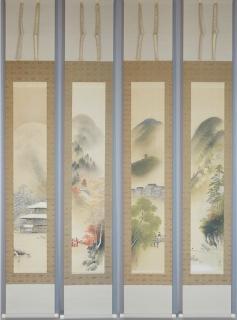 渡辺石華 京洛二題 (四幅セット)