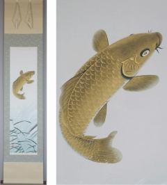 坂本楽山人 跳鯉
