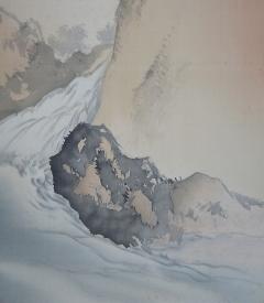 西村草文 洞泉遊鯉