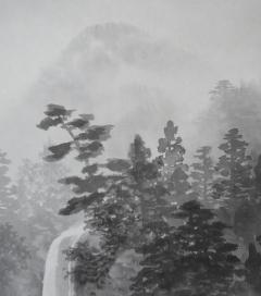 行近壮人 白雲依山