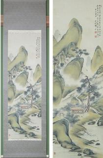 岡本香村 南画山水