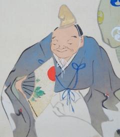 西岡蘇泉 瑞祥万来図 (描表具)
