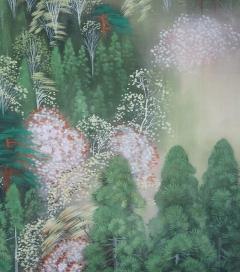 安川日露四 春景山水