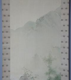 岩井昇山 春秋山水図 (双幅)