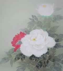 前川峰月 紅白牡丹