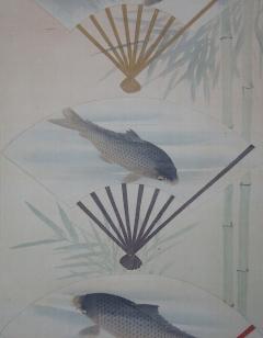 林雅章 扇鯉図
