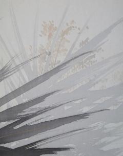 五島耕畝 葦に鷺