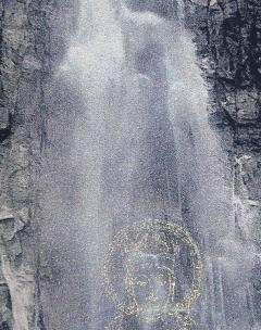 青岸渡寺 那智の滝観音出現掛軸 西陣織