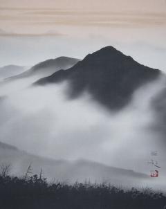浜田三郎 望郷雲海図