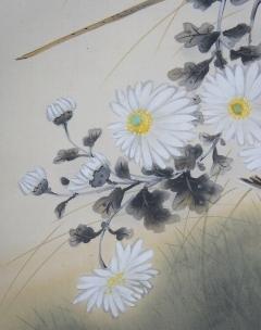 朝見香城 菊に雀