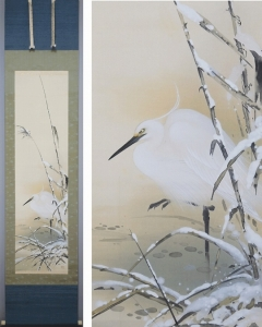 三宅星明 雪中之鷺