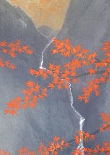 中澤勝 紅葉に滝 [新品]