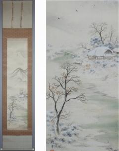 勝川秋月 雪中山水