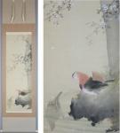 「岩井昇山 桜鴛鴦図」春の掛け軸を追加致しました