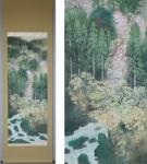 「安川日露四 春景山水」春の掛け軸を追加致しました
