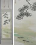 「鈴木大華 松下鮎図」夏の掛け軸を追加致しました