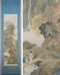 「岡田雪窓 秋暮山行図」秋の掛け軸を追加致しました