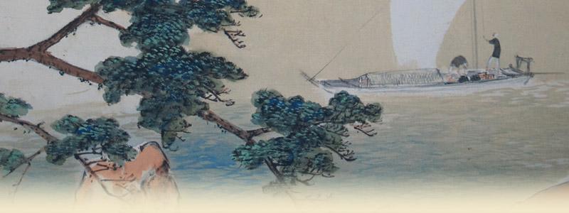 「今井景樹 桜に双鳩」春の掛け軸を追加致しました。